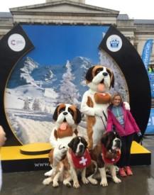 Hugo and Grace, Swiss. London winter run Tralfalgar square 2016 jan 31st